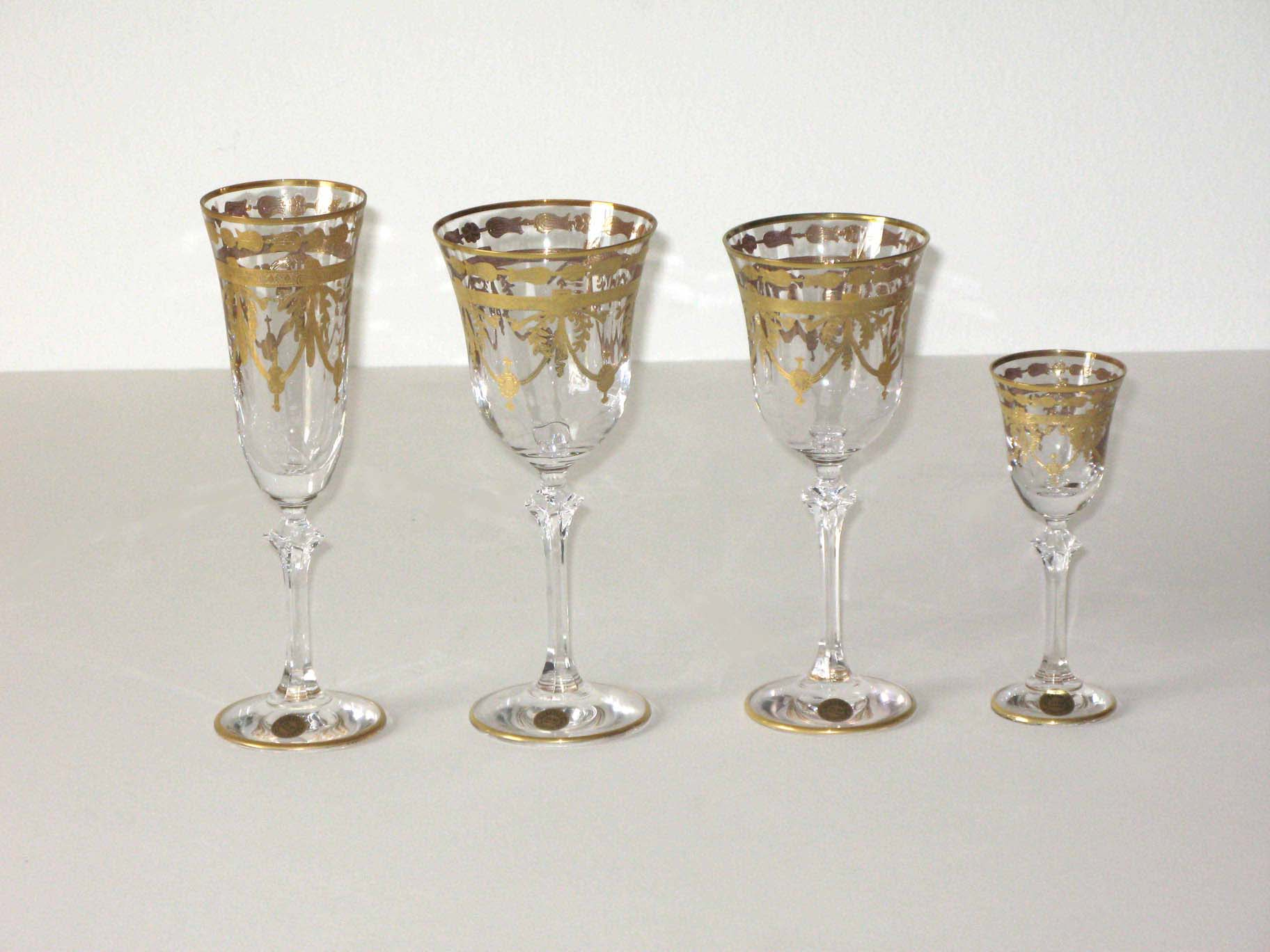 Kt Gold Murano Glass Glasses