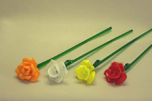 Murano Art Glass Collections from MuranoArtGlass.us - Glass Flowers 1014