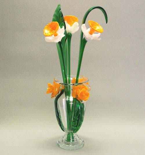 Murano Art Glass Collections from MuranoArtGlass.us - Art Glass Flowers 1023