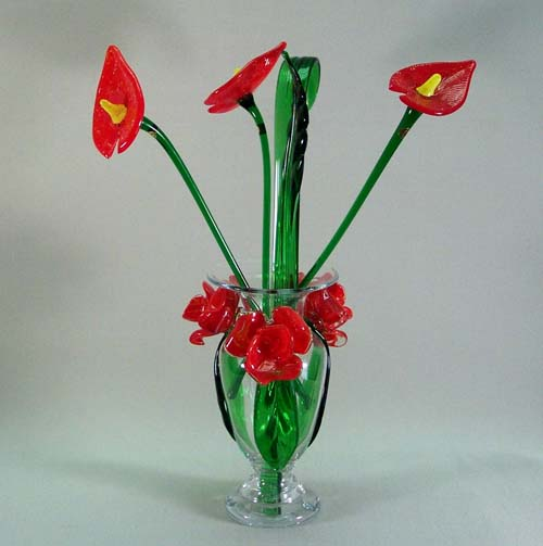 Murano Art Glass Collections from MuranoArtGlass.us - Art Glass Flowers 9001